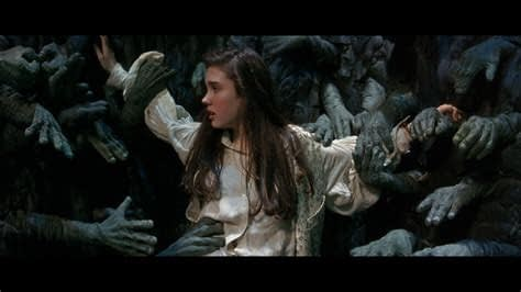 Labyrinth: Sarah held up by Helping Hands