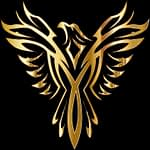 Clipart of Phoenix in black and gold
